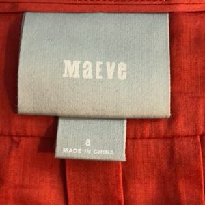 Anthropologie Tops - Anthropologie Maeve Burnt Orange Blouse Size 8 039